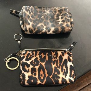 Victoria's Secret and Soho cosmetic bags leopard